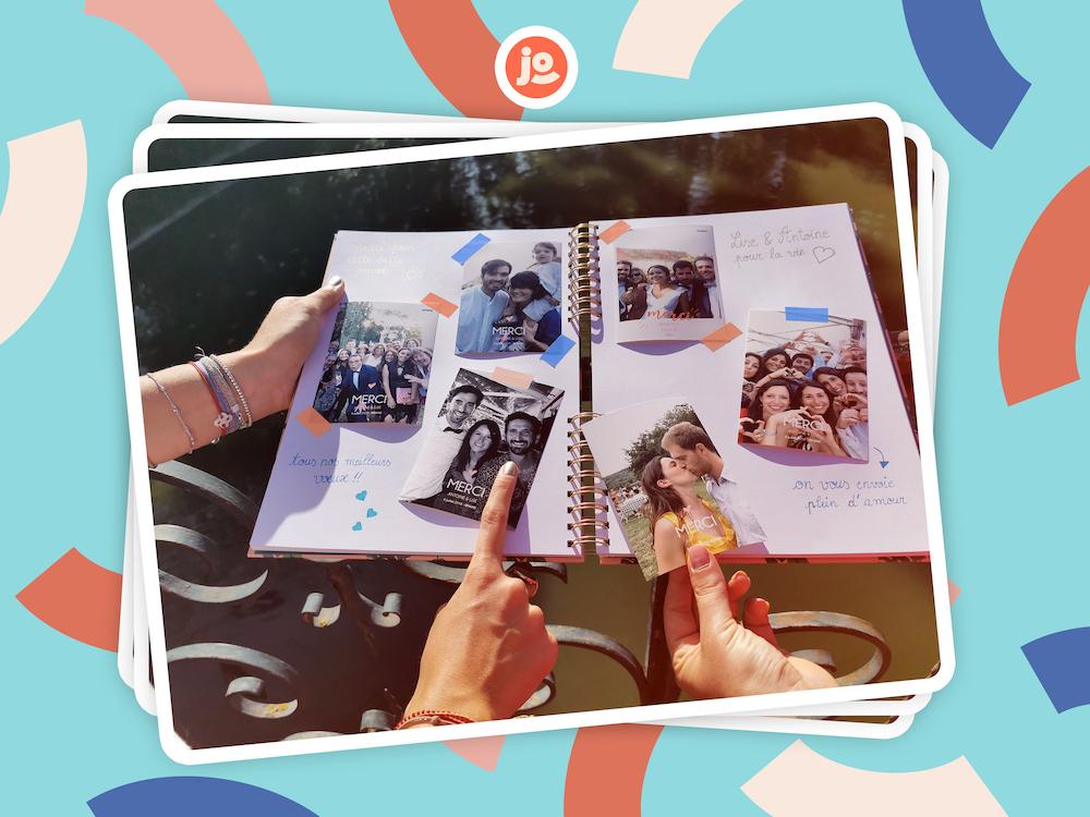 A l'occasion d'un mariage, plusieurs photos prisent par le photomaton de Josepho, sont collées dans un livre d'or.
