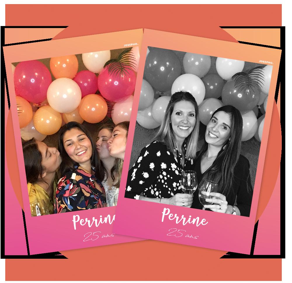 Photos imprimees par un photomaton qui sont personnalisees pour un anniversaire