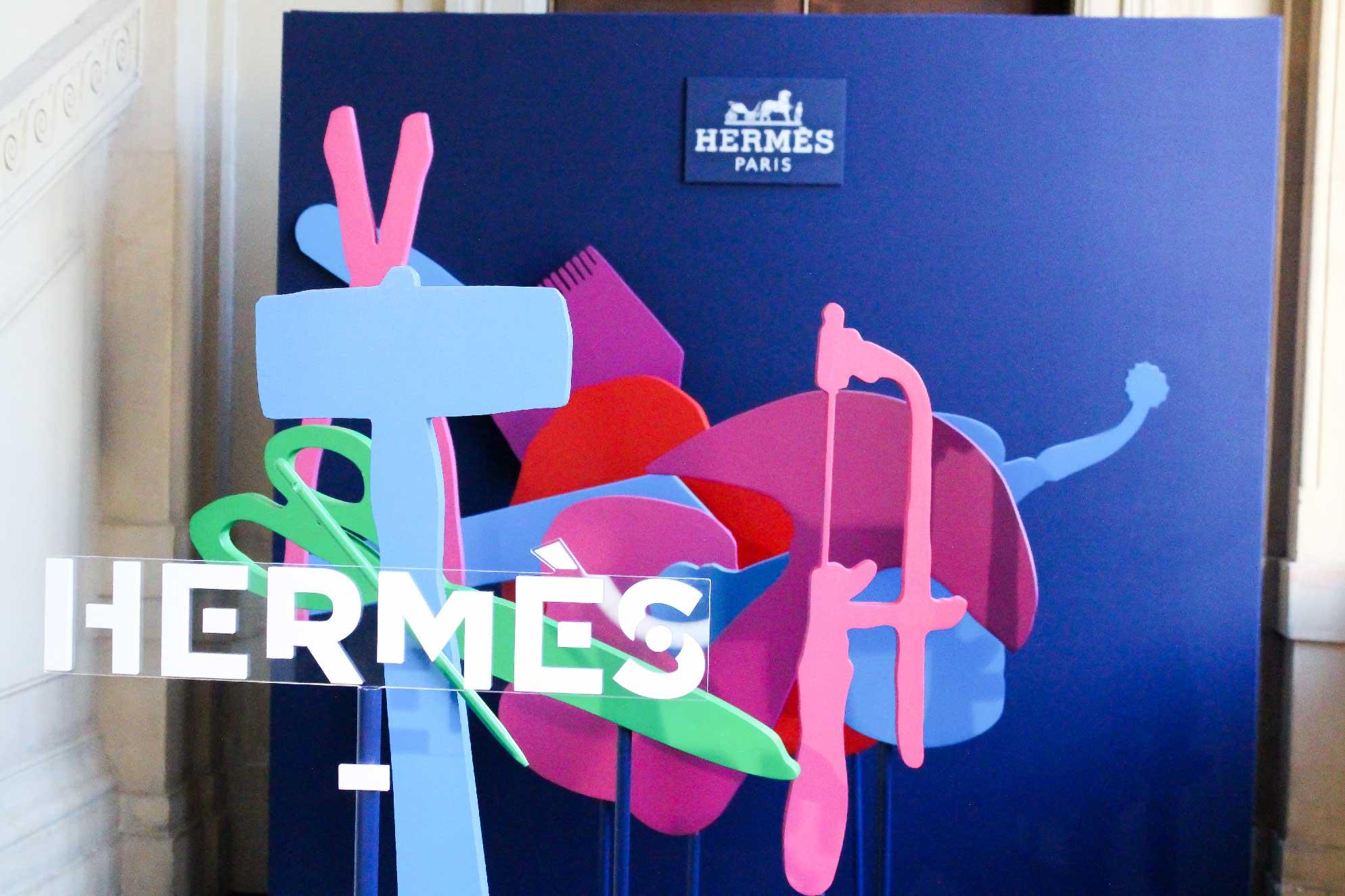 Le photocall Hermès Hors Les Murs.