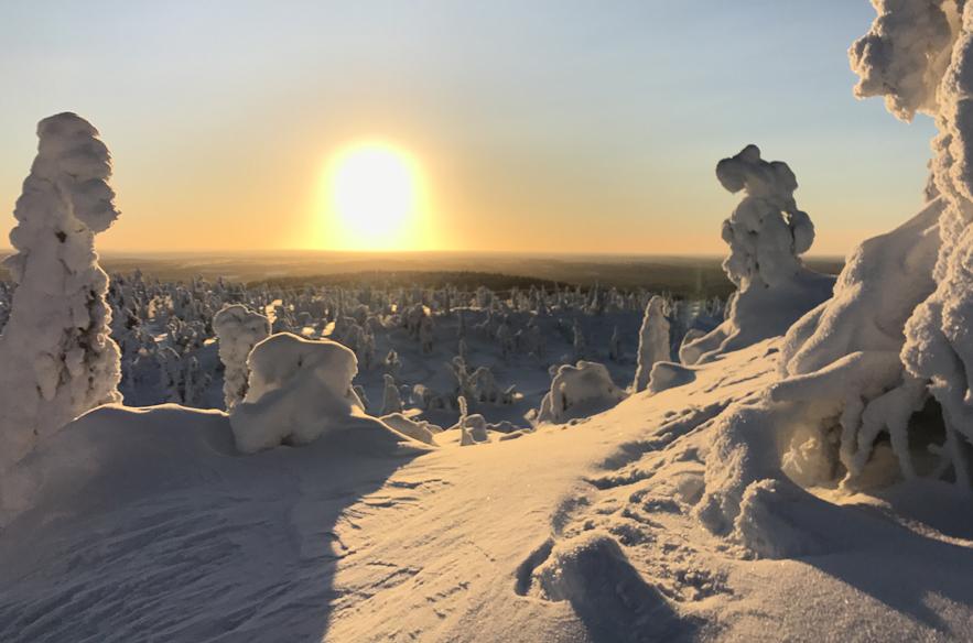 Jenni Alexandrova haluaisi näyttää Iso-Syötteen maisemat kaikille ulkomaisille ystävilleen.