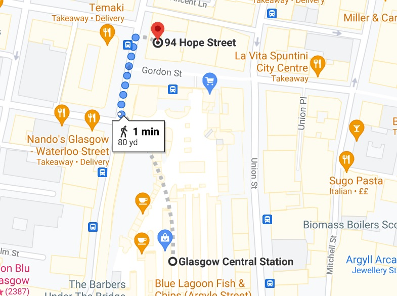 directions to our Glasgow first aid training centre
