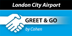 London City Cohen Greet and Go logo