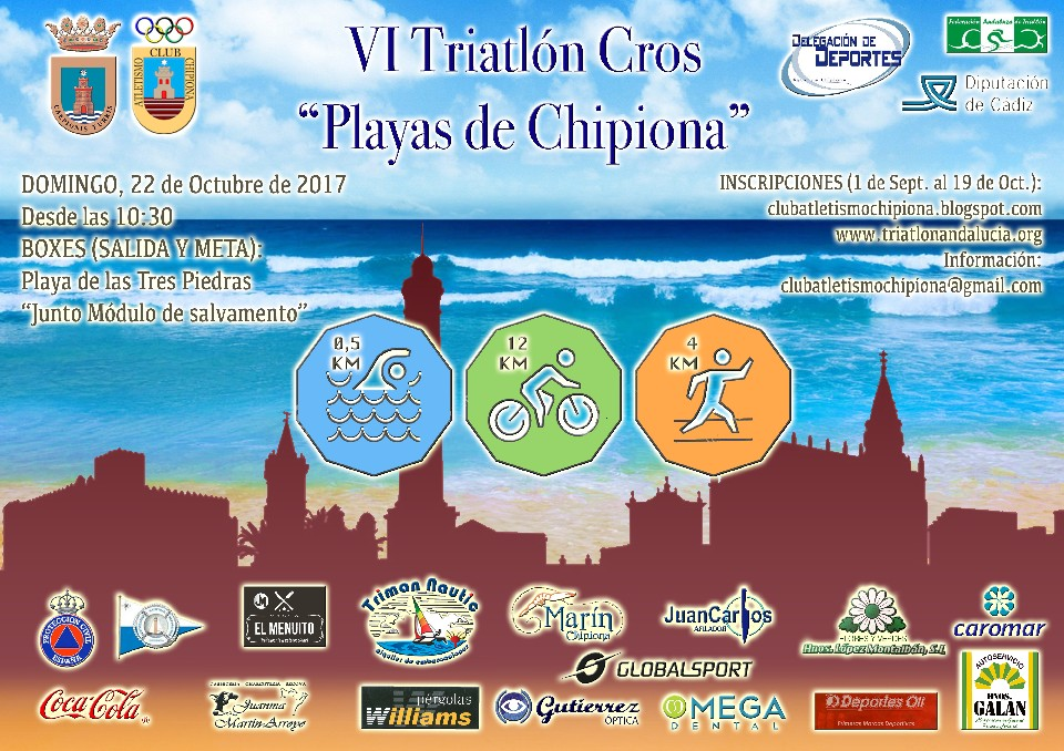 "VI Triatlón Cros ""Playas de Chipiona"""