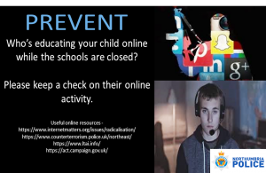 Prevent flyer from Northumbria police
