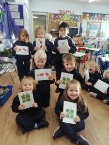 We continued our preparations for Advent by making cards and writing a letter to the residents of The Spinney.  We hope that they will make them happy during these strange times.