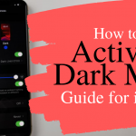 how to activate dark mode ios 13 iphone
