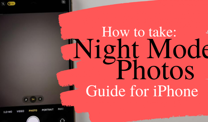 how to night mode photo iphone 11