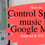 how to control spotify music in google maps