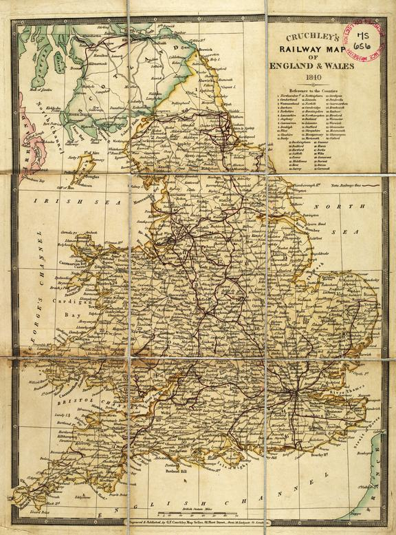 Map Of England Rail.Cruchley S Railway Map Of England Wales Science Museum Group