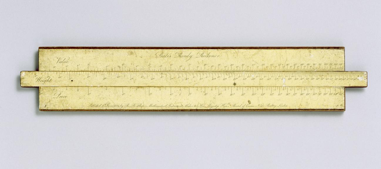 bate s ready reckoner a slide rule paper on wood science museum