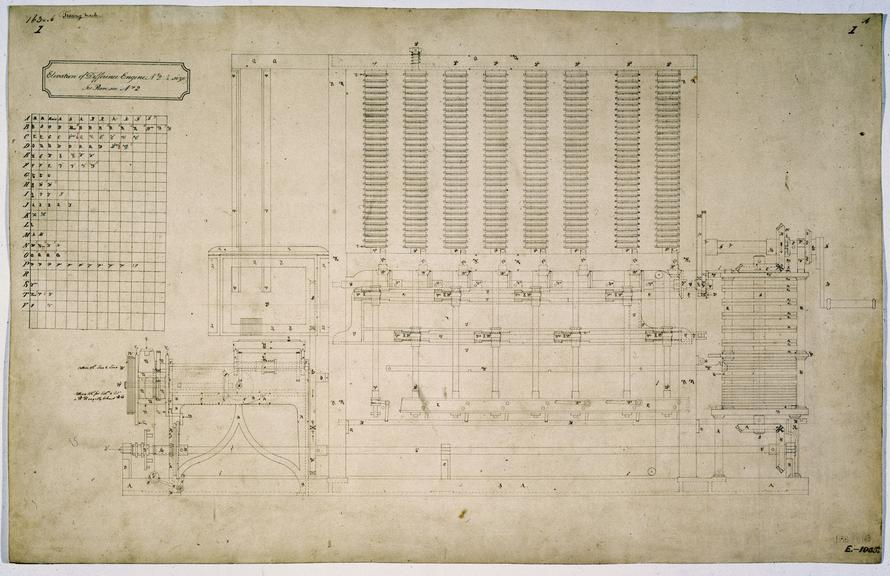 Elevation Of Difference Engine No 2 Science Museum Group Collection