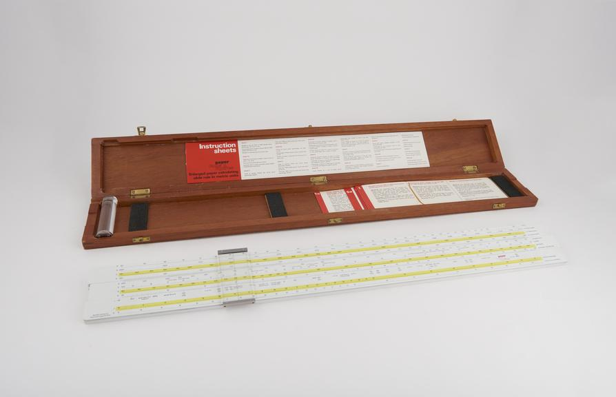 paper calculating slide rule paper facts and fig science museum