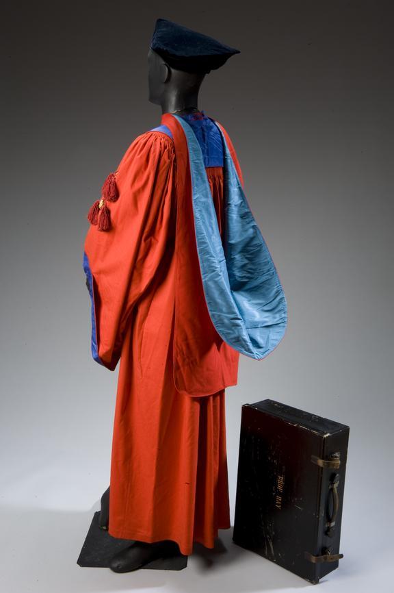 Professor Matthew Hay\'s academic cap, gown, and hood in box ...
