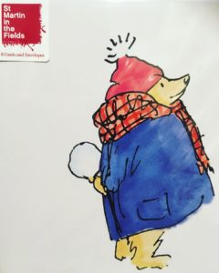 Christmas card - Paddington Bear