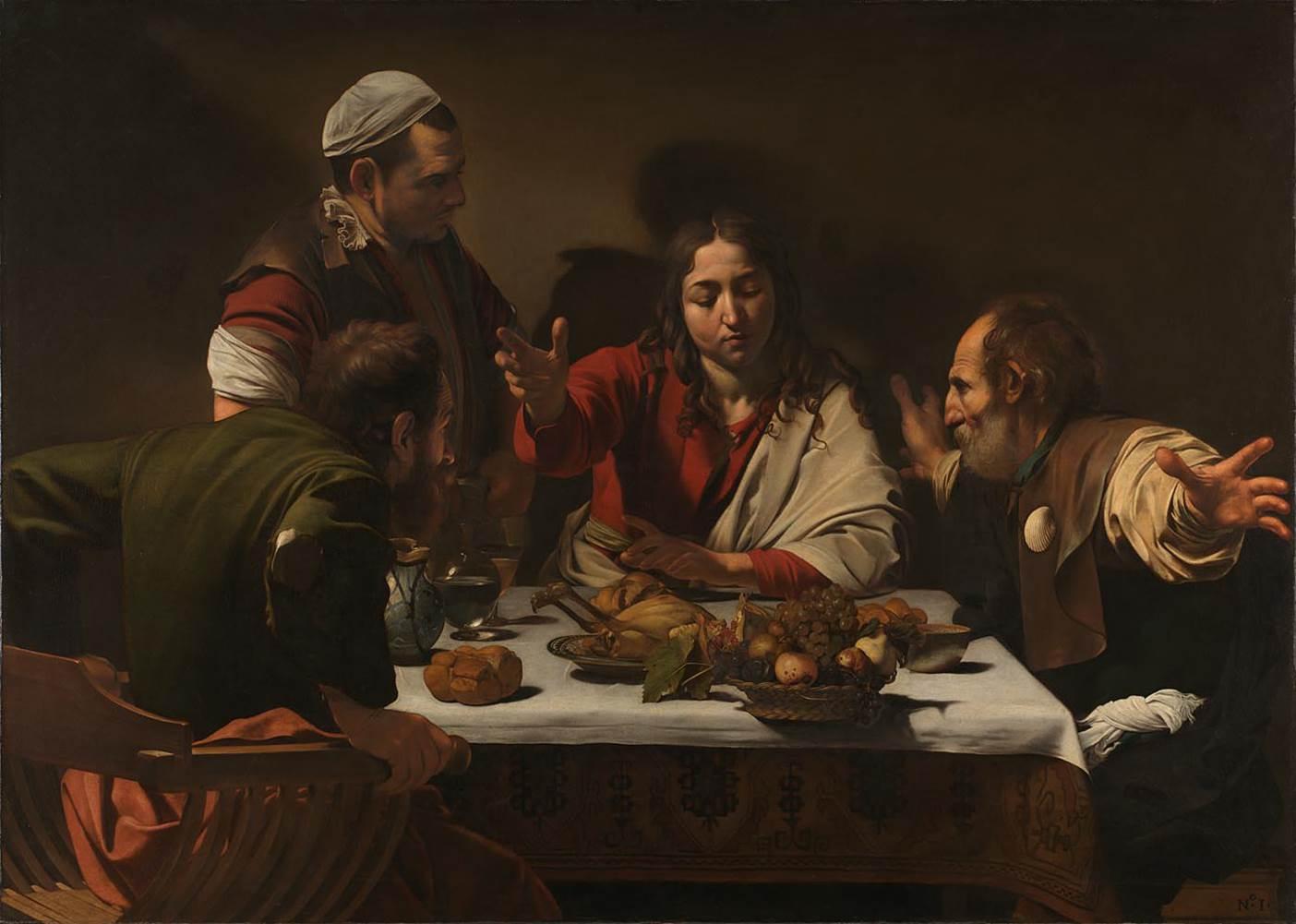 'The Supper at Emmaus', Caravaggio, NG172
