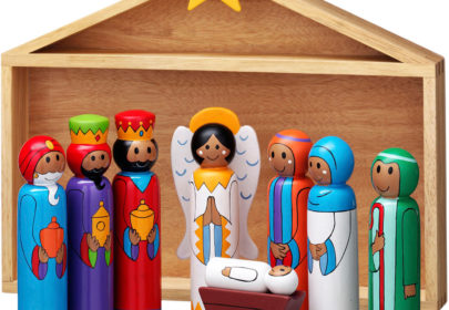 Lanka Kade Wood Nativity Set