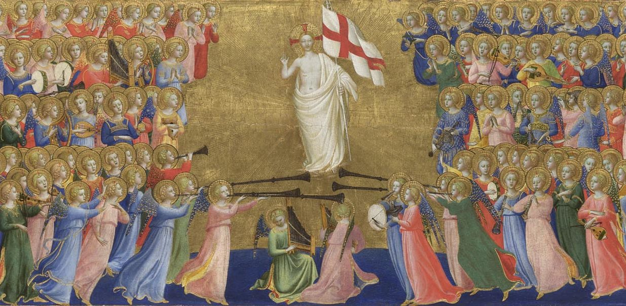 Christ Glorified in the Court of Heaven: Central Predella Panel, Probably by Fra Angelico © The National Gallery, London. Bought 1860