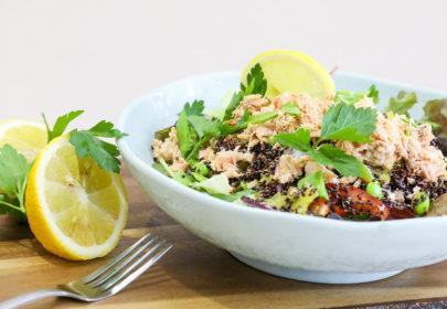 Tuna nicoise salad bowl