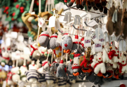 Christmas decorations - felt animals