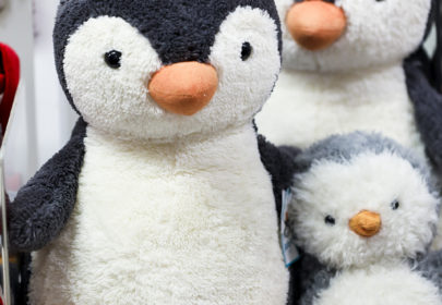 Soft cuddly toys - penguins in different sizes