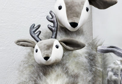Soft cuddly toys - reindeer in different sizes