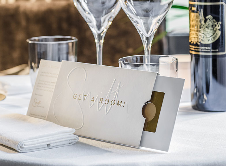 Get a Room! gift card: wedding edition