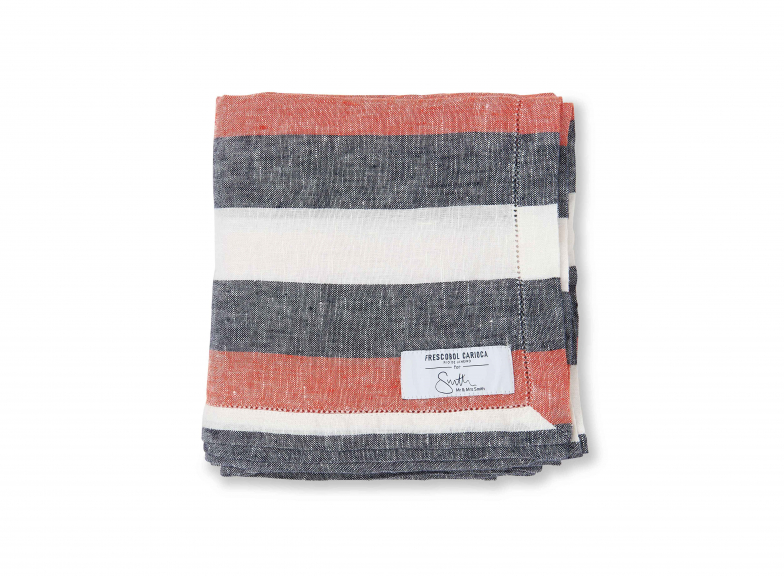 Frescobol Carioca x Mr & Mrs Smith: Striped linen towel