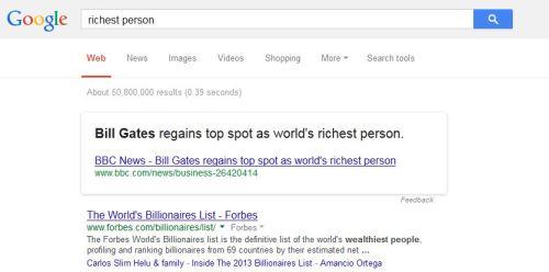 Searchmetrics Hummingbird google richest person short