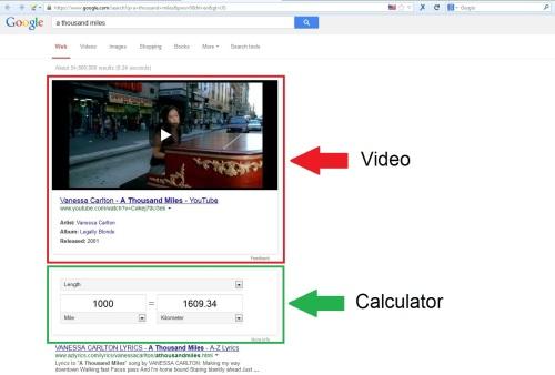 Searchmetrics Hummingbird google video kg
