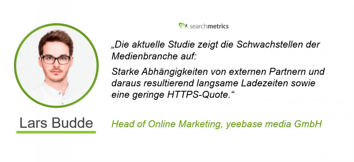 Testimonial Lars Budde - MedienRF-Searchmetrics
