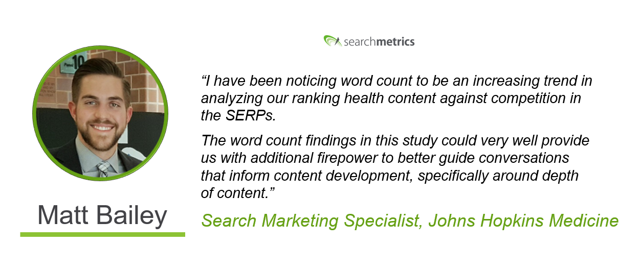 Searchmetrics Health Ranking Factors Statement-Matt Bailey