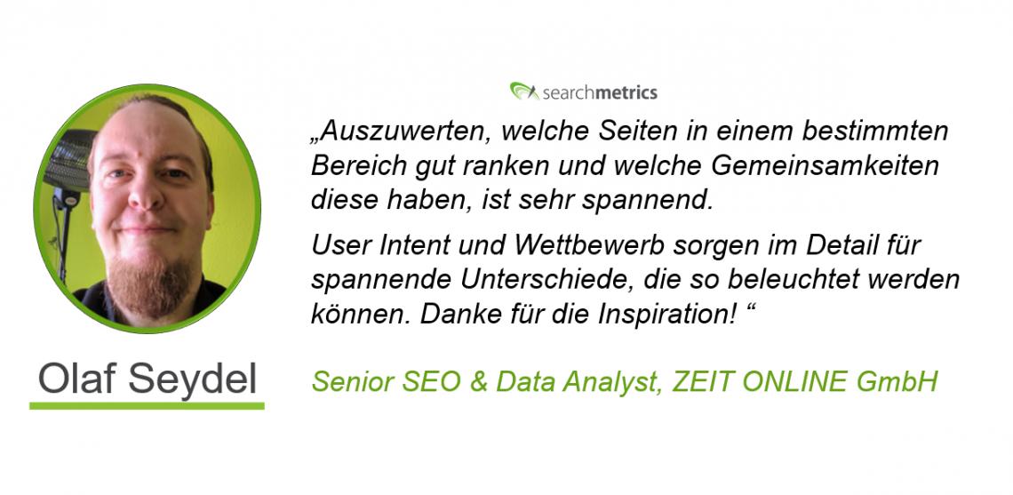 Testimonial Olaf Seydel - MedienRF-Searchmetrics
