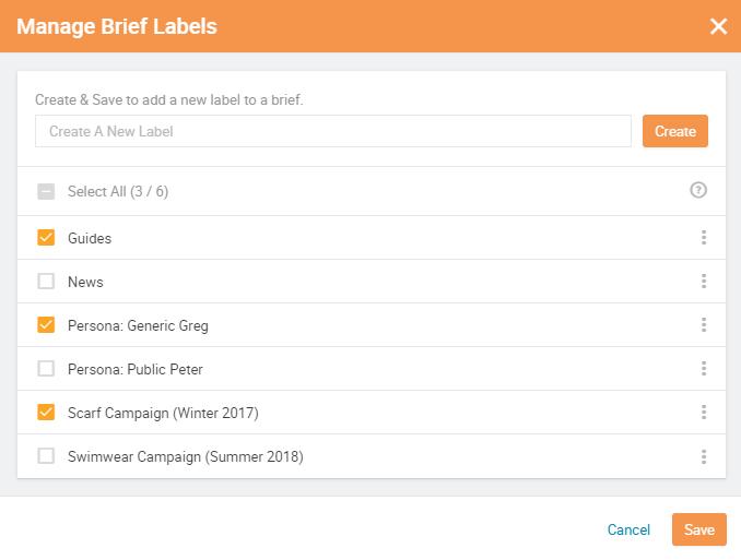 Searchmetrics: Brief Labels