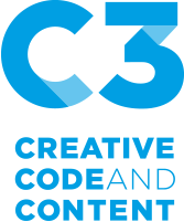 Logo C3 Creative Code and Content