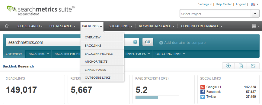 Glossar: Linkjuice / Searchmetrics Suite: Backlinks