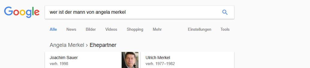 Searchmetrics Glossar: RankBrain-Beispiel: Wer ist der Mann von Angela Merkel?