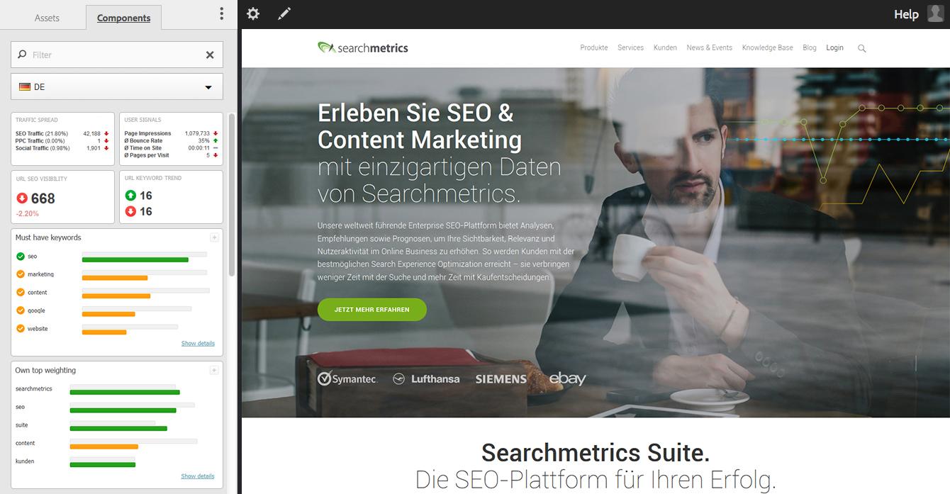 Searchmetrics Content Composer Screen DE