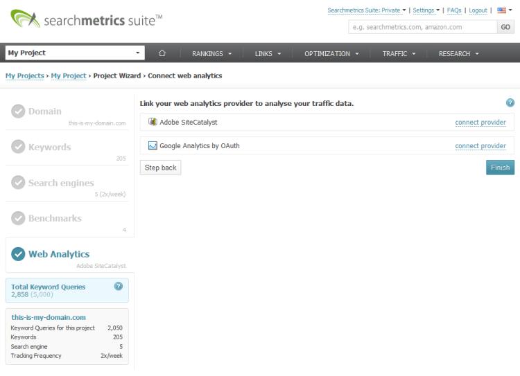 Searchmetrics Suite Project Analytics 1