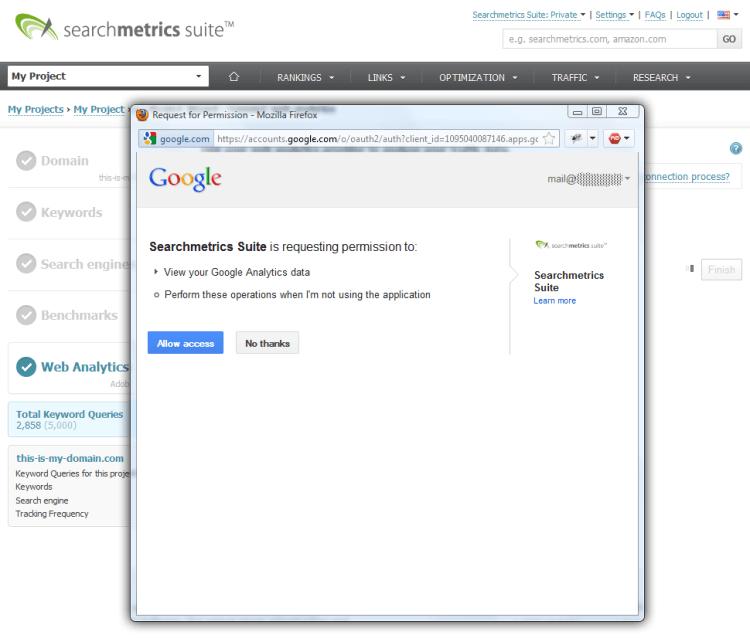 Searchmetrics Suite Project Analytics 3
