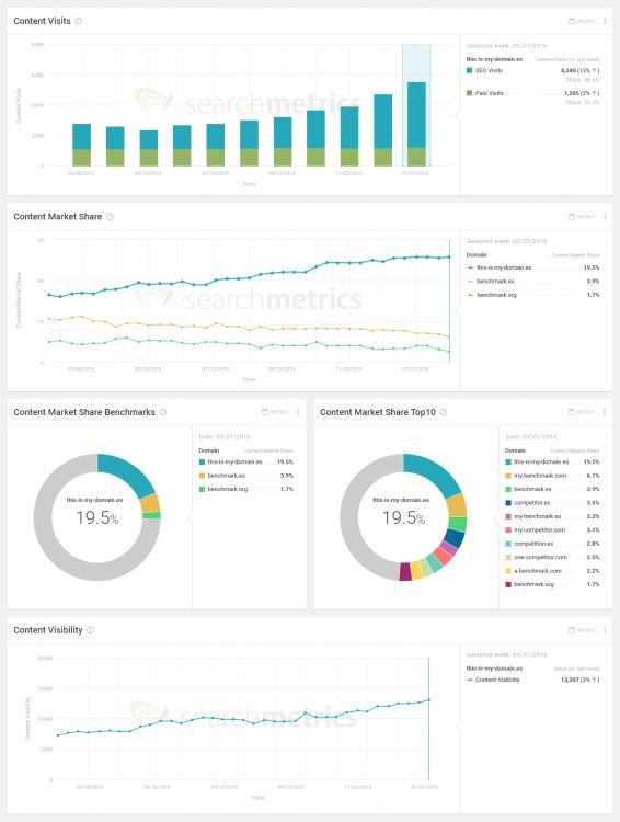 Searchmetrics Content Experience: Analytics