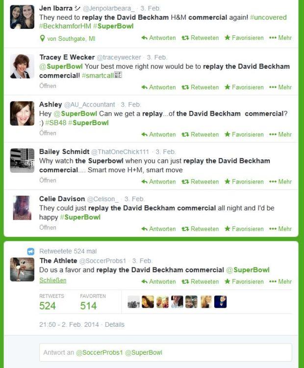 Searchmetrics Study Superbowl Tweets Beckham 2014