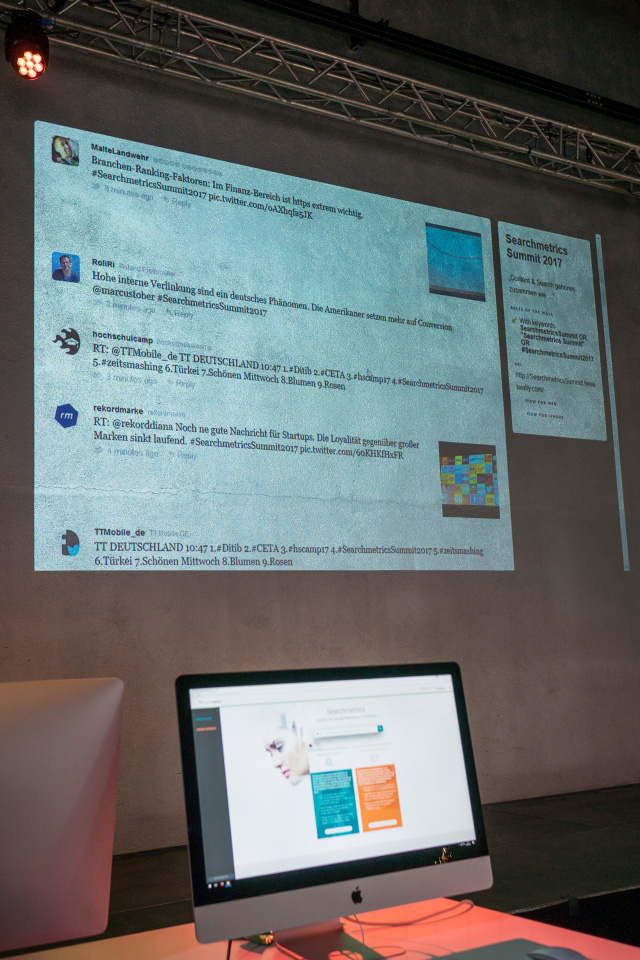 Searchmetrics Summit Berlin 2017: Twitterwall