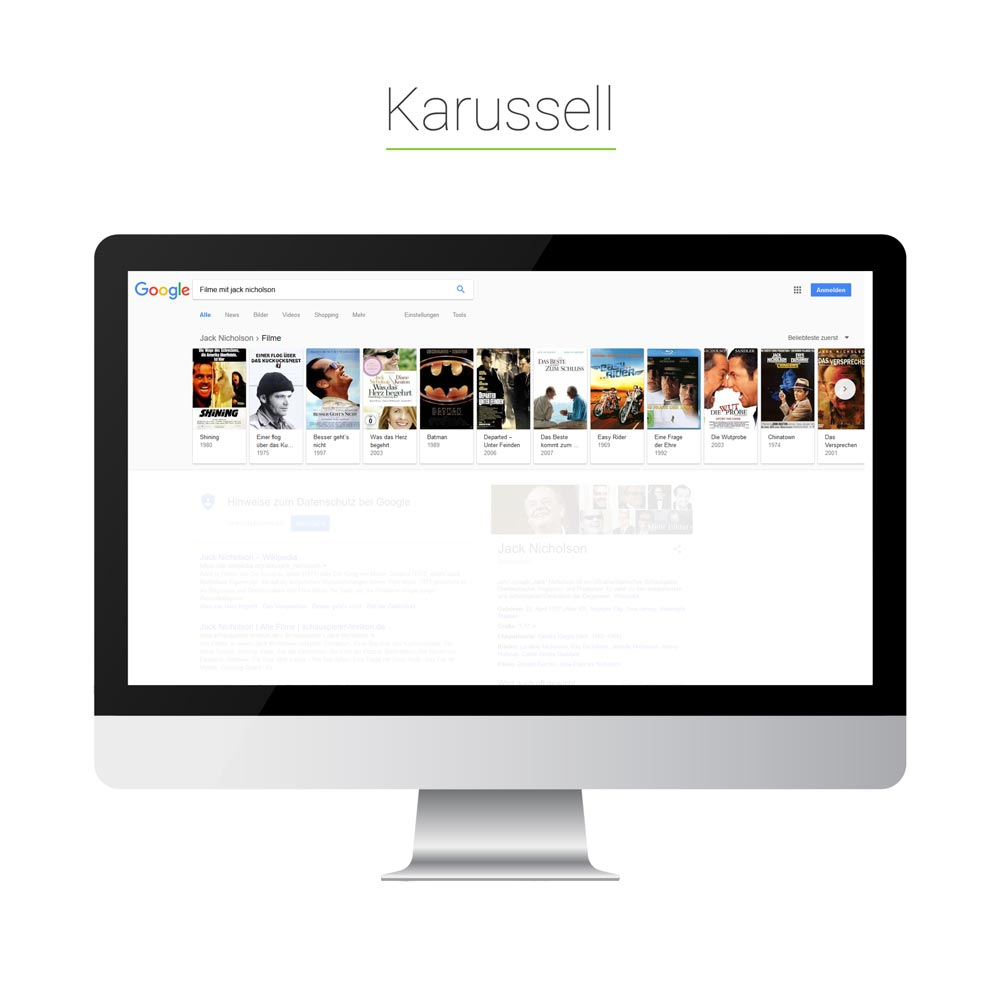 Universal Search: Karussell