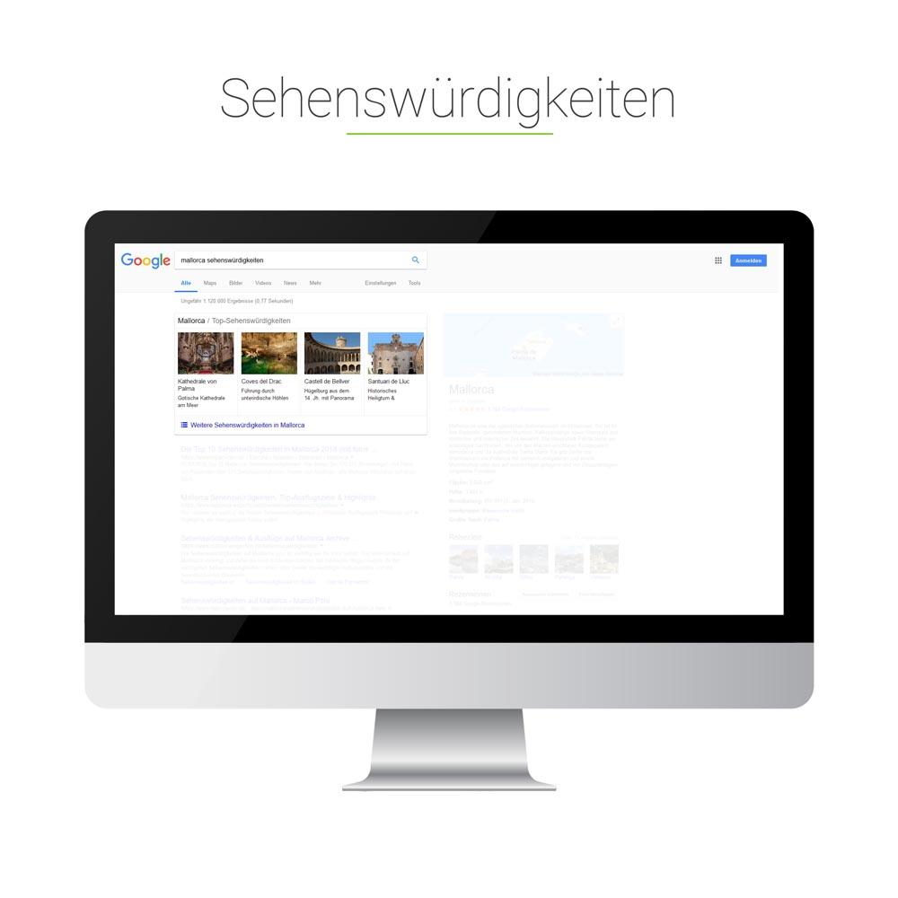 Universal Search: Sehenswürdigkeiten