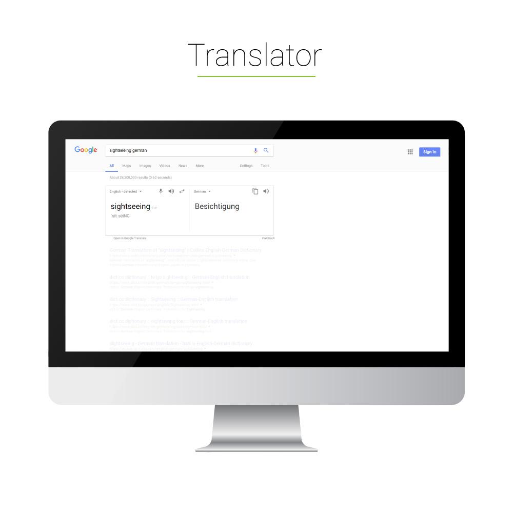 Universal Search: Translator
