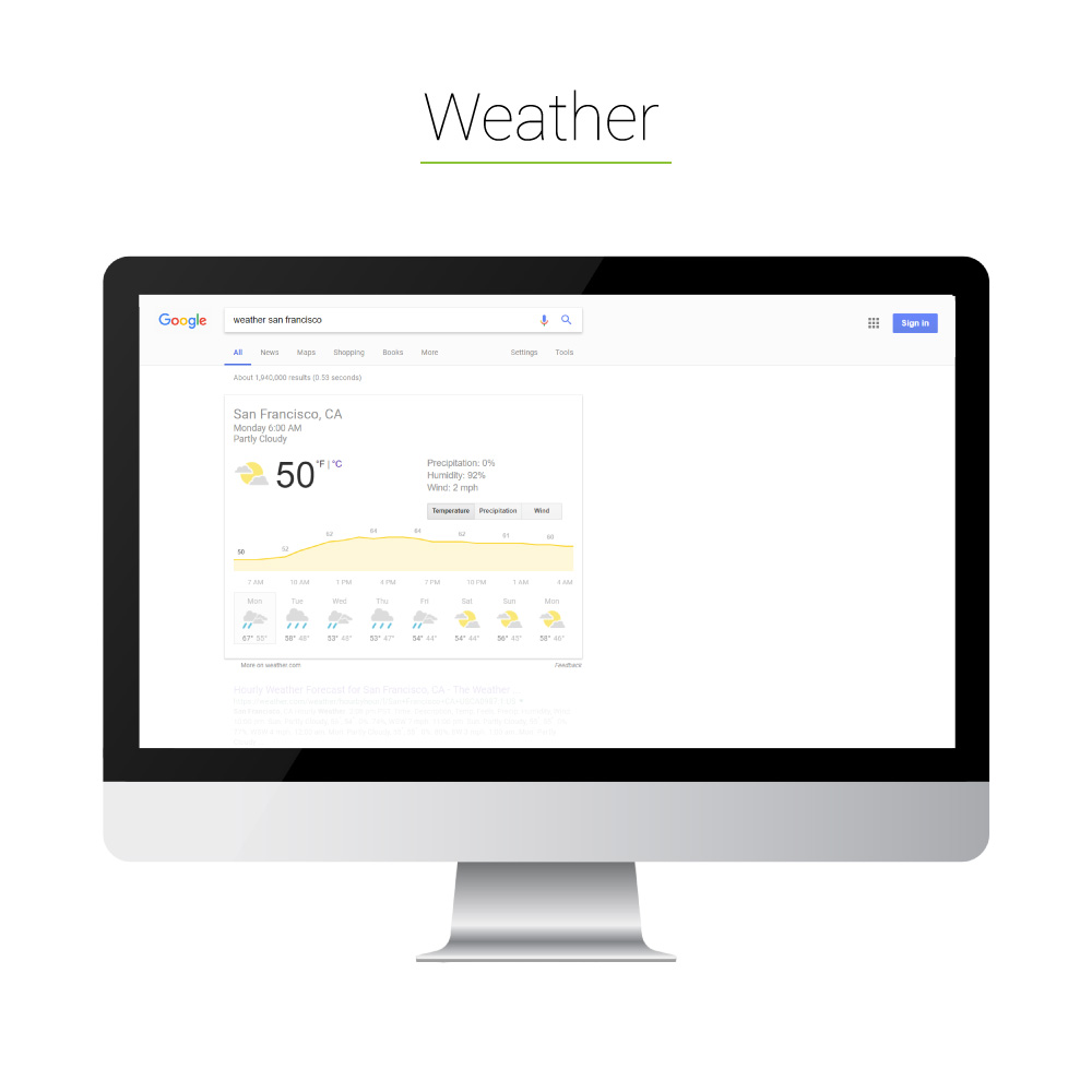 Universal Search: Weather