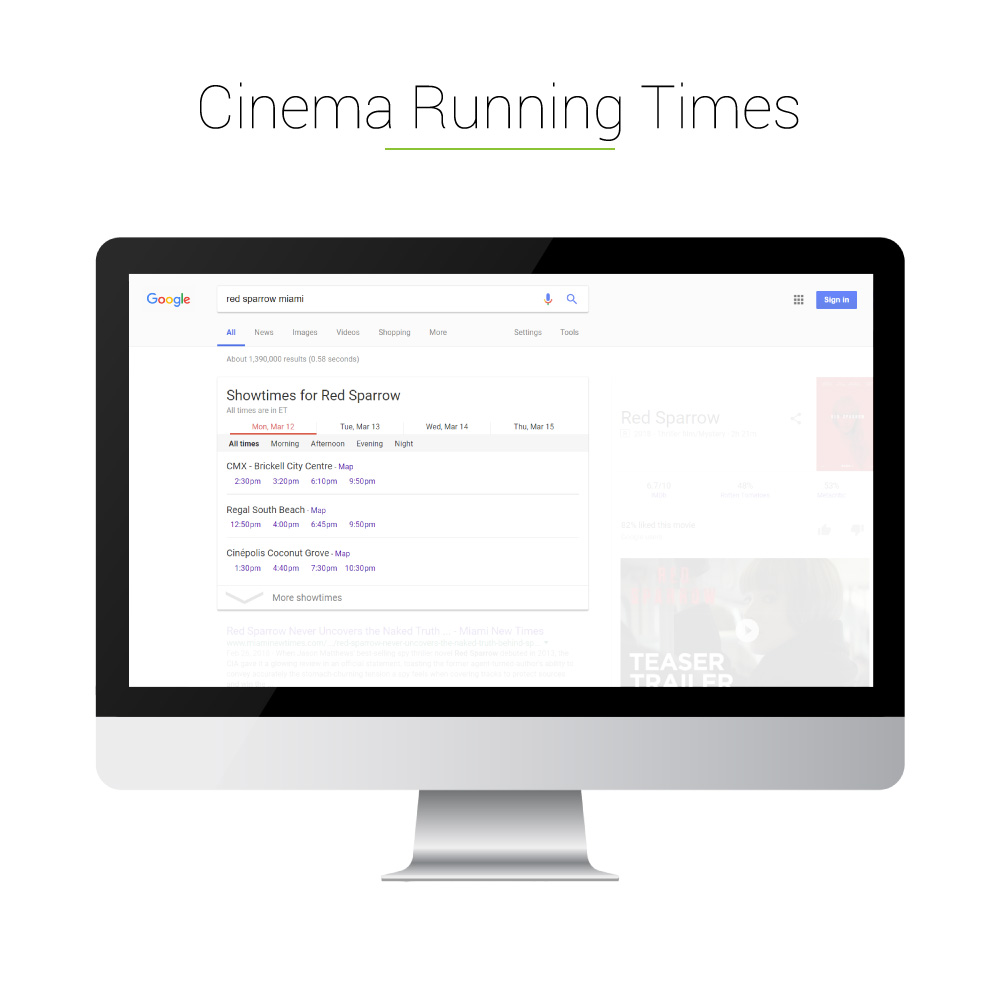 Universal Search: Cinema Running Times