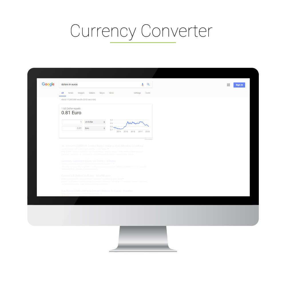 Universal Search: Currency Converter
