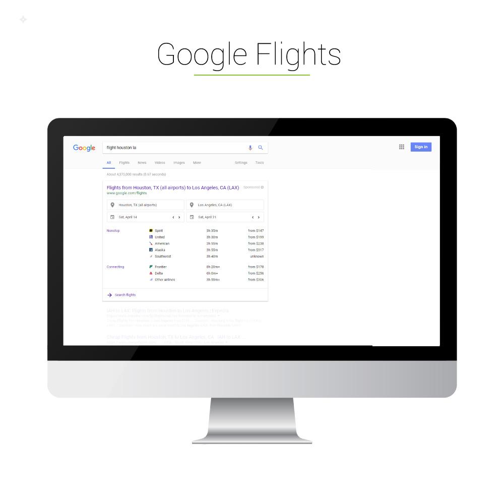 Universal Search: Google Flights