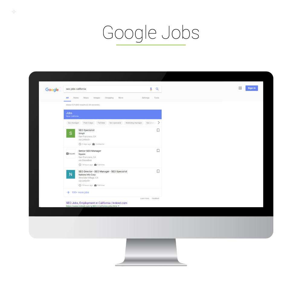 Universal Search: Google Jobs